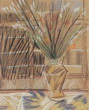 Sale 9047A - Lot 5048 - Vicki Varvaressos (1949 - ) - Vase & Flowers, 1984 49.5 x 40 cm (frame: 74 x 65 x 2 cm)