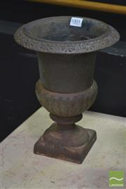 Sale 8289 - Lot 1003 - Cast Iron Urn