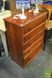 Sale 8440 - Lot 1066 - Timber 5 Drawer Chest