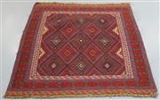 Sale 8438K - Lot 50 - Afghan Tribal Meshwani Rug | 123x111cm, Pure Wool, Unique Afghan tribal Meshwani rug, handwoven in Northern Afghanistan by nomadic p...