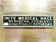 Sale 8476 - Lot 1043A - A Vintage Chemists Sign