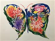 Sale 8527A - Lot 46 - Charles Blackman (1928 - ) - Flower Butterfly 56 x 76cm
