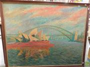 Sale 8582 - Lot 2117 - Harry Situ Sydney Opera House and Harbour Bridge Oil on canvas (102 x 128cm) Signed Lower Right