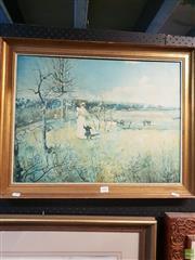 Sale 8645 - Lot 2085 - Charles Conder - Springtime, Richmond, decorative print, 53.5 x 67cm (frame)