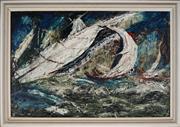Sale 8867A - Lot 5090 - Artist Unknown - The Race 61 x 90.5cm