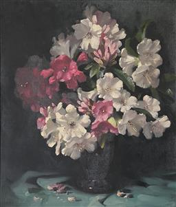 Sale 9123J - Lot 85 - John Loxton Still Life oil on canvas 70x60cm signed lower left