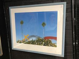 Sale 9147 - Lot 2033 - Ian Pearson - Bridge View frame: 82 x 97 cm
