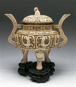 Sale 9153 - Lot 55 - A composite Chinese lidded censer (H 37cm)