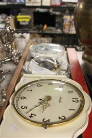 Sale 8390 - Lot 1226 - German Ceramic Clock and Parts