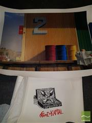 Sale 8552 - Lot 2068 - Imants Tillers Print SLR with a Jeffrey Smart Poster (2)