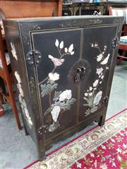 Sale 8580 - Lot 1086 - Inlayed Oriental 2 Door Cabinet