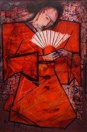 Sale 8652 - Lot 558 - Charles Blackman (1928 - 2018) - The Sun Geisha 148 x 98cm
