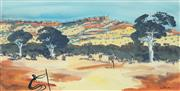 Sale 8675A - Lot 5005 - Shane Pickett (1957 - 2010) - Traditional Landscape 17.5 x 33cm