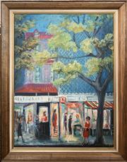 Sale 8682 - Lot 2001 - Hans Selke - High Street (1960), oil o board, 60 x 44.5cm, signed lower right