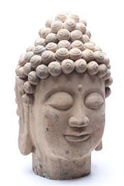 Sale 8732W - Lot 75 - Large Terracotta Buddha Head ( H 46cm)