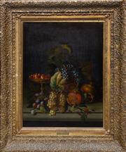 Sale 8746 - Lot 1029 - After Michelangelo Caravaggio (XIX) Frame size (124 x 104 x 11cm) - Still Life of Fruit on Table