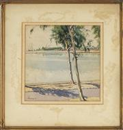 Sale 8791A - Lot 5074 - James Emery (1794 - 1889) - Morning, Lake Timsah, Egypt, 1941 29 x 30.5cm