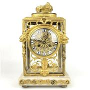 Sale 8795K - Lot 8 - A Louis XVI pendulum clock in working order on marble base with gilt finish.