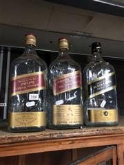 Sale 8802 - Lot 5 - Johnnie Walker Red & Black Label Display Bottles (3)