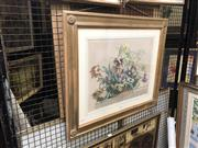 Sale 8833 - Lot 2044 - Hand-Coloured Lithograph of a Basket of Flowers