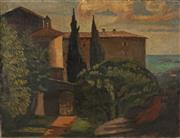 Sale 8936 - Lot 2027 - Artist Unknown (C20th) The Entrance, Europe oil on canvas (AF - puncture), 50 x 65cm, unsigned -