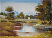 Sale 8995 - Lot 2087 - Artist Unknown - Riverscape 27 x 37 cm (frame: 31 x 41 x 2 cm)