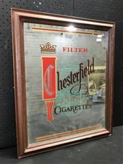 Sale 9039 - Lot 1002 - Vintage Chesterfield Bar Mirror (h:59 x w:48cm)