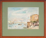 Sale 9087 - Lot 2092 - Artist Unknown - On The Adriatic Coast, 1940 21.5 x 29.5 (frame: 38 x 44 x 2 cm)