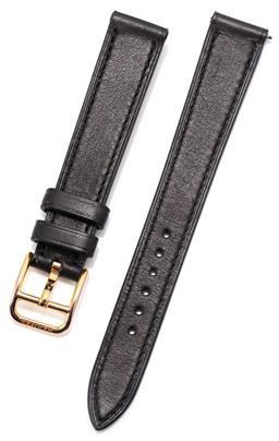 Sale 9160 - Lot 375 - AN HERMES BLACK LEATHER BARENIA WATCH STRAP, size 035, width 14mm.