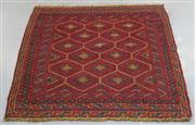 Sale 8438K - Lot 52 - Afghan Tribal Meshwani Rug | 122x115cm, Pure Wool, Unique Afghan tribal Meshwani rug, handwoven in Northern Afghanistan by nomadic p...