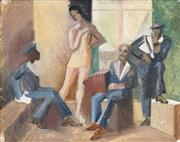 Sale 8492 - Lot 581 - Artist Unknown (XX) - French Sailors 31.5 x 40cm