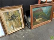 Sale 8491 - Lot 2092 - Group of (4) original oil paintings including Sue Nagel (framed/various sizes)