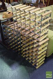 Sale 8542 - Lot 1026 - Collection of Three Timber and Metal Modular Wine Racks