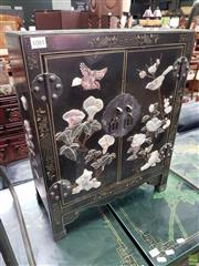 Sale 8580 - Lot 1081 - Inlayed Oriental 2 Door Cabinet