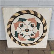 Sale 8649R - Lot 14 - Mosaic Marble Slab (60 x 60cm)