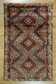 Sale 8653C - Lot 31 - Vintage Persian Husseinabad 227cm x 140cm