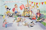 Sale 8657A - Lot 5049 - Charles A. Newman (1913 - ?) - Billy Cart Races, 1981 37 x 55cm