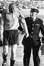 Sale 8754A - Lot 23 - NSW vs Ireland, Irish Rugby Union Tour of Australia, Sydney Sports Ground, 6 May 1967 - NSW Centre Phil Smith 31 x 20cm