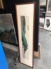 Sale 8816 - Lot 2054 - Chinese Watercolour Landscape, 42 x 157cm(frame)