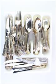 Sale 8827D - Lot 71 - A James Dixon Cutlery Setting (Kings Pattern Handled)