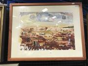 Sale 8981 - Lot 2002 - Artist Unknown Rural Homested watercolour and gouache 55 x 71cm (frame), signed Hutchinson on frame verso