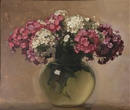 Sale 9123J - Lot 86 - Ernest Buckmaster Still life oil on canvas 54x65cm signed & dated 27 lower left