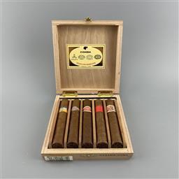 Sale 9250W - Lot 760A - Seleccion Robustos Cuban Cigars - gift box 5 cigars including Cohiba, Montecristo, Romeo y Julieta, Partagas & Hoyo de Monterrey, st...