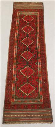Sale 8438K - Lot 53 - Tribal Meshwani Runner | 263x62cm, Pure Wool, Unique Afghan tribal Meshwani rug, handwoven in Northern Afghanistan by nomadic people...