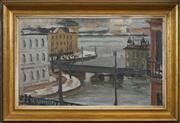 Sale 8651A - Lot 94 - Knut Hanqvist (1904 - 1981) - View Towards Riddarholmen 25.5 x 42cm