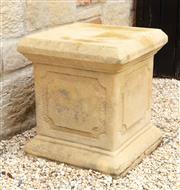 Sale 8677A - Lot 16 - A square form plinth Height 47cm