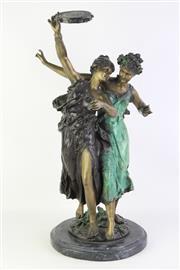 Sale 8810 - Lot 24 - Bronze Figural Statue on Pedestal