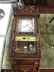 Sale 8822 - Lot 1537 - Timber Framed Wall Clock
