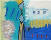 Sale 8867A - Lot 5035 - Wendy Stokes (1957 - ) - Seascape, Port Macquaire, 1992 102 x 134cm