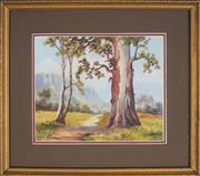 Sale 8891 - Lot 2008 - William Payne - Old Gum Trees, Megalong Valley 23 x 28 cm